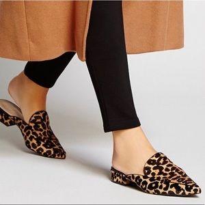 Cole Haan Piper Mules Leopard Calf Hair Sz 6.5